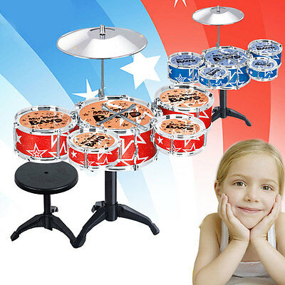 Drum Set Percussion Instrument Musical Toy Early Educational for Children Kids