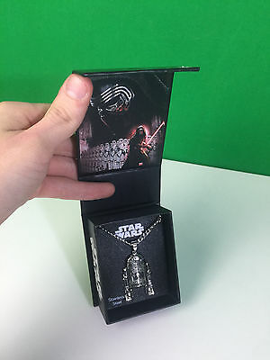 Star Wars Stainless Steel R2-D2 Jewelry Necklace in Box