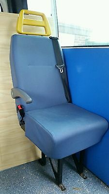 Minibus Seats Blue With Seat Belts From Ambulance