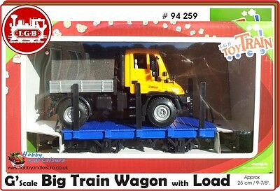 Lgb - 94259 Stake Car With Unimog Vehicle Load 'G' Scale