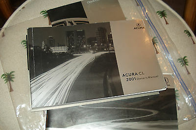 2001 Acura Cl  Owners Manual Packet Set
