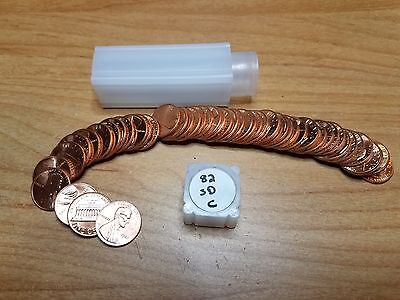 1982 P Small Date Copper Lincoln Cent Roll Penny  Uncirculated
