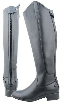 Dublin Black Leather Zip Up Horse Riding Boots Size Uk 8 New Rrp £149.99