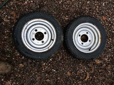 140-70-R12C / 4 STUD TRAILER WHEEL&TYRE X 2 Pair Michelin