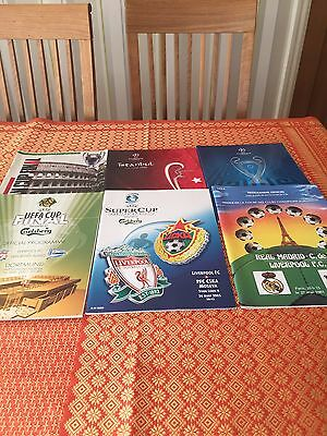 43 Liverpool Big Match and rare programmes. Includes All 7 European Cup Finals