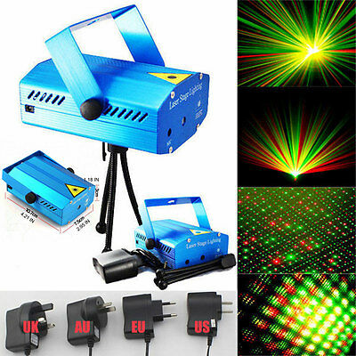 New Mini R&G Laser Projector Stage Light Night Club Lighting Home Party DJ Disco