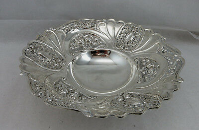Sterling Silver 925 Fruit Candy Nut Dish Bowl With Master Design 204 Grams