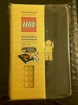 Moleskine Lego Limited Edition notebook. Hardcover 9x14cms 192 pages, stickers.