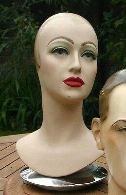 Vintage rare 1930's Hollywood movie star Carole Lombard Mannequin head bust
