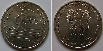 1980 - 20 Zlotych - Igrzyska XXII Olimpiady --- very good Polish coin