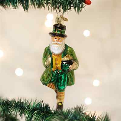 *Irish Santa* Ireland Celtic [40201] Old World Christmas Glass Ornament - NEW