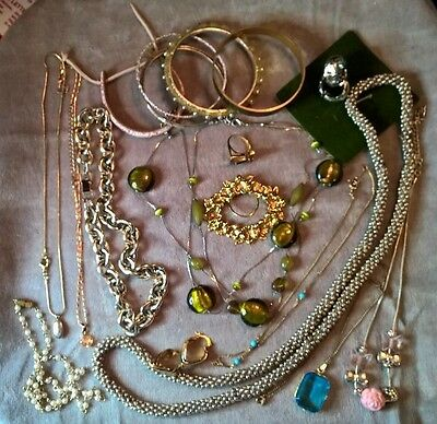 Collection of mixed costume jewellery - all preloved - necklaces, bracelets etc