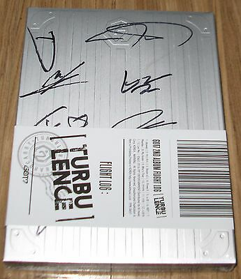 GOT7 FLIGHT LOG TURBULENCE Vol.2 GROUP COVER REAL SIGNED AUTOGRAPHED CD NEW