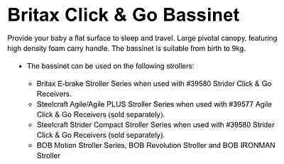 Britax Steelcraft Click and Go Bassinet