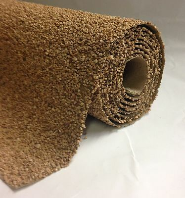 "Javis JXGUBR - 48"" x 12"" Extra Fine Granite Brown Ballast Mat Roll - T48 Post"