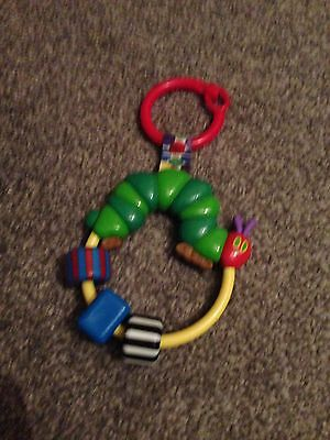 The Very Hungry Caterpillar Attachable Ring Rattle.
