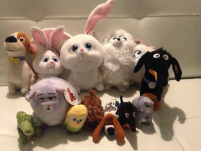 Selection Of Secret Life Of Pets Toys