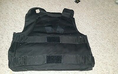 Black stab vest cover no inserts size XL