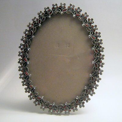 Vintage Rhinestone Oval Picture Frame