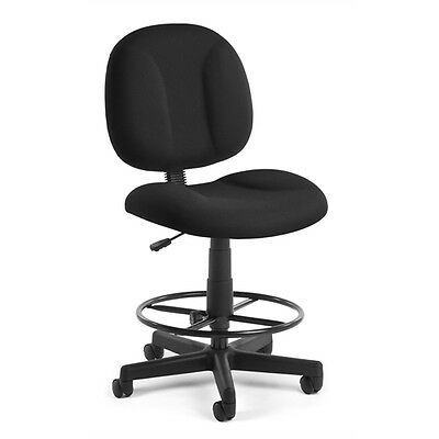 OFM Comfort Series Superchair with Drafting Kit, Black