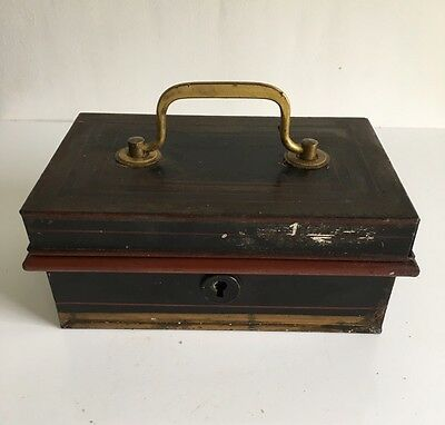 Vintage Petty Cash Money Box With Insert Trays Metal No Key