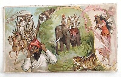 1800's Arbuckle Bros. Coffee Company Trading Card - India #33