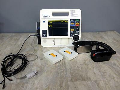 Lifepak 12 Biphasic 3 Lead ECG SPO2 Pacing Analyze Hard Paddles 2 Batteries