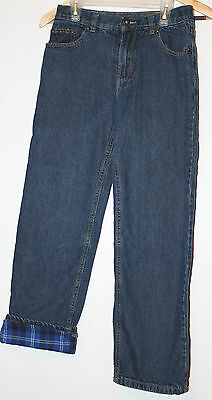 Boys SZ 14 jeans with flannel lining Lined jeans Blue Size 14 Reg Relax EUC
