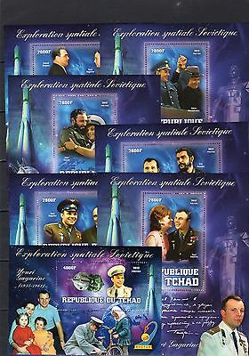 Space/Famous People/Gagarin/Castro/Breznev - set of 15 S/S MNH - - 2 scans !