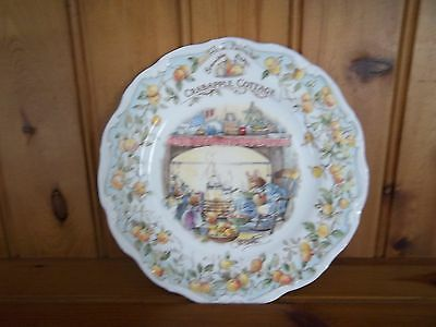 "Royal Doulton Brambly Hedge 8 "" Plate - Crabapple Cottage"