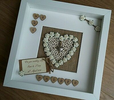 Personalised Scrabble tile frame 25th Silver, Tin Wedding Anniversary Gift