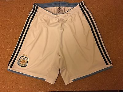 Official Adidas Argentina Home Shorts Size Adult Medium