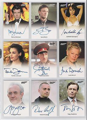 James Bond Archives 2009 Robert Carlyle Autograph Auto Trading Card World Enough