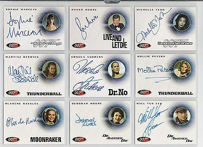 James Bond Roger Moore Autograph Auto Trading Card Quotable Live And Let Die