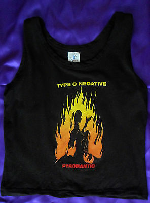 Rare Type O Negative Pyromantic Ladies Vest T-Shirt Vintage 1997