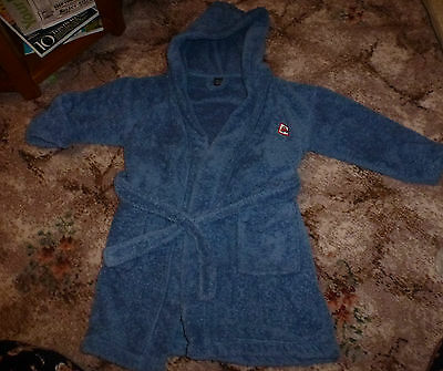 Boys NEXT Blue Soft Robe/Dressing Gown Age 5-6 Years