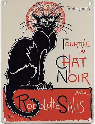 Tournee Du Chat Noir Metal Sign  - Nostalgic Vintage Retro - Fridge Magnet