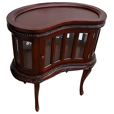 Heritage Petite Kidney Chocolate Display Table,Removable Tray,29.5'' x 30.5''H.