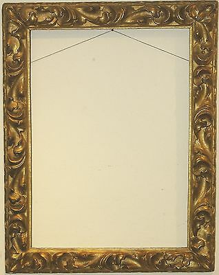 Antique Italian Hand Carved Wood Picture Frame Gold Gilt