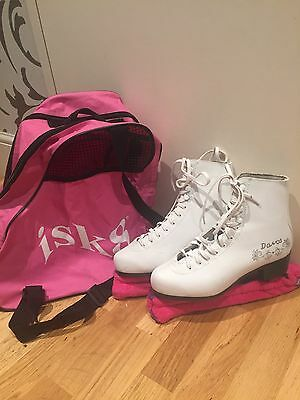 Davo's Ice Skates Size 38 White Comes With Extras