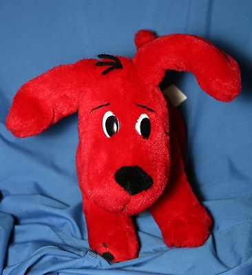 Clifford the Big Red Dog Plush Bendable Poseable Soft Toy Puppy PBS Kids EUC