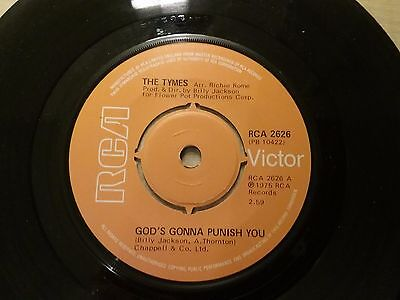 The Tymes God's Gonna Punish You / If I Can't Make You Smile RCA Records
