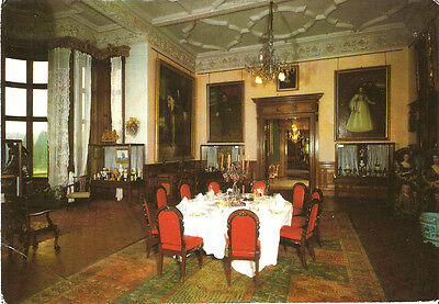 POSTCARD THORESBY HALL STATE DINING ROOM OLLERTON NOTTINGHAM c1975