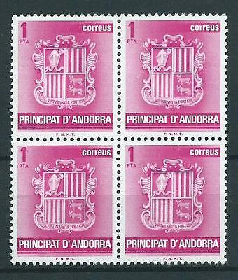 Stamps Andorra (Spanish) Sg139 1982 Mnh In Blocks Of 4 Stamps.