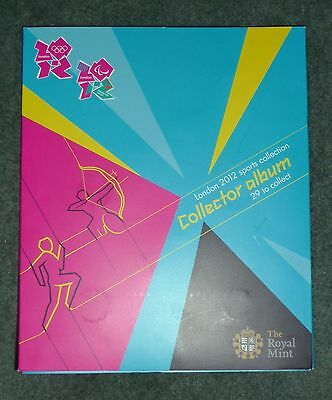 London 2012 Sports Collection Collector Album + 29 Coins & Completer Medallion!