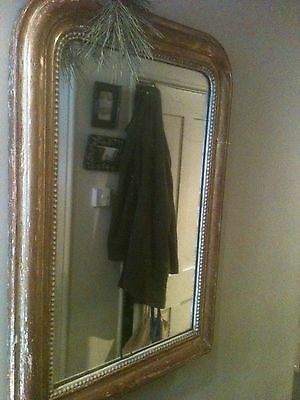 Antique 19th Century French Louis Philippe Gilded Mirror -