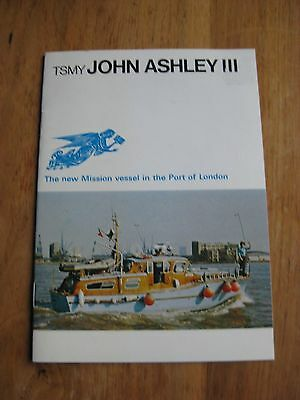Missions to Seamen, 'TSMY John Ashley III' (1971), booklet re. its dedication