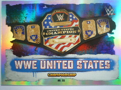 Slam Attax Takeover Wwe United States Title Belt Trading Cards Comb P&p