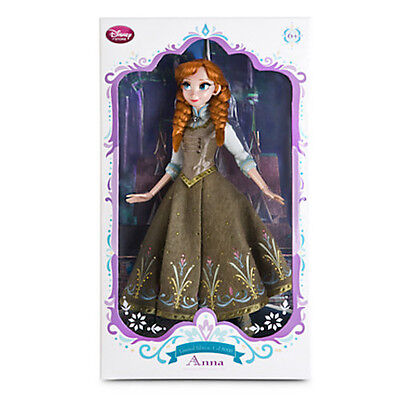 "Disney Store SUMMER ANNA Doll 17"" LE Limited Edition Frozen 2015 Elsa Sister NEW"