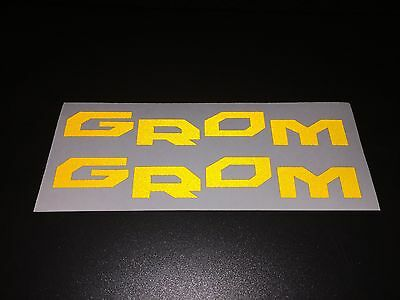 2x HONDA GROM Reflective SAFETY Motorcycle Helmet Sticker Hi Viz TT Gold